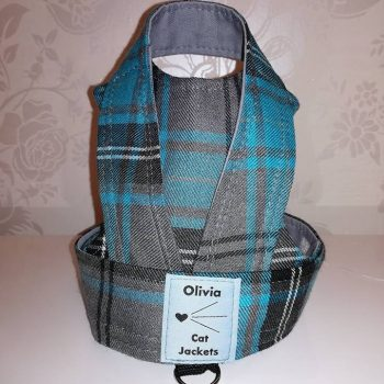 Tartan - Grey and Turquoise